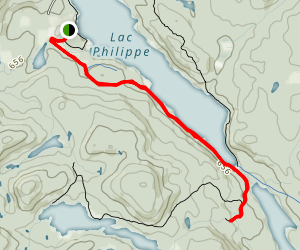 Lac Philippe Map