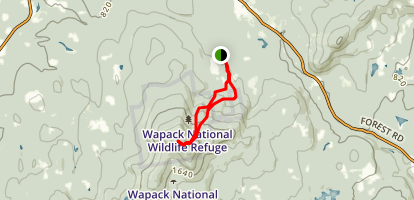 Ted's Trail to Carolyn's Trail Loop Map