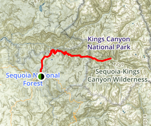 Kings Canyon National Scenic Byway Map