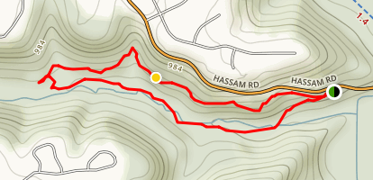 Meeks Run and Oil Well Trail Loop Map