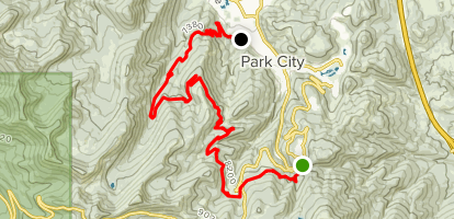 Mid-Mountain and Spiro Trail Map