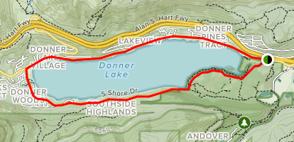 Donner Lake Bike Loop Map