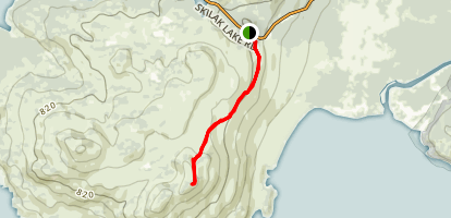 Skilak Lookout Trail Map