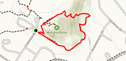 Mariana Butte Loop Trail Map