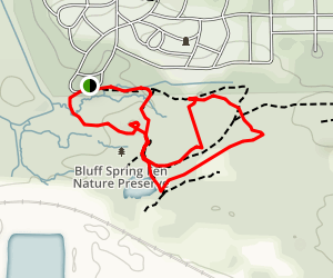 Bluff Spring Fen Nature Preserve Loop Map