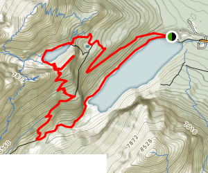 Lake Agnes Trail to Plain of Six Glaciers Trail Loop Map