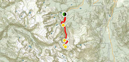 The Spearhead via Glacier Gorge Trail Map