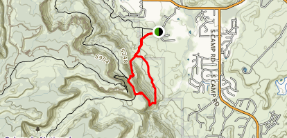 Liberty Cap, Ute Canyon and Corkscrew Trail Loop Map