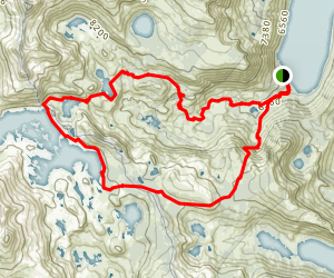 Tamarack- Lake and Aloha Lake Loop Map
