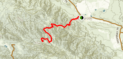 Oak Grove Trail to High Point Map