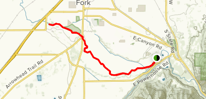 Spanish Fork River Trail Map