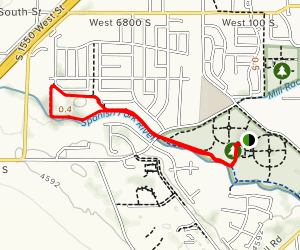 River Trail Loop from Sports Park Map