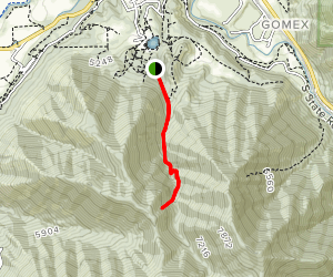 Snell Canyon Trail Map
