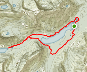 Upper Two Medicine Creek Loop Map