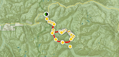 Chain Lakes and Bulls Tooth Loop Trail Map
