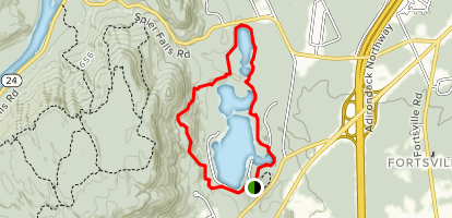 Moreau Lake and Overlook Map