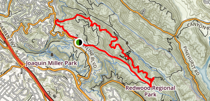 West Ridge and French Trail Loop Map