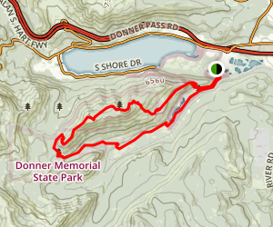 Schallenberger Ridge, Emigrant Canyon and Coldstream Loop Map