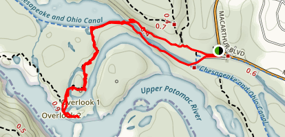 Potomac River Overlook via Billy Goat Trail Map