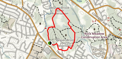 Beaver Brook North Reservation Loop Map