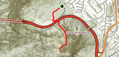 Haiku Stairs [CLOSED/ PRIVATE PROPERTY] Map