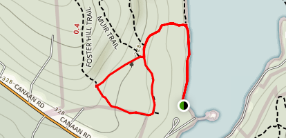 FIsher Hill Trail to Hemlock Trail and Moose Trail Loop Map