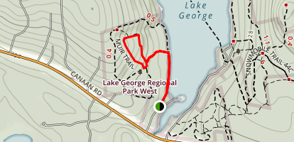 Hemlock Trail to Porcupine and Muir Loop Trail Map