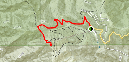 Lookout Mountain Via Crest and Scenic Trails Map