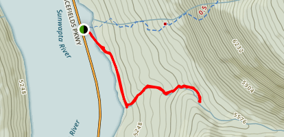 Beauty Creek to Stanley Falls Map
