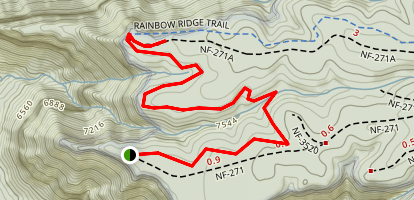 Timp Point to North Timp Map