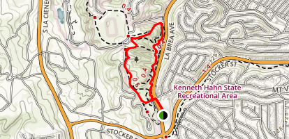 Kenneth Hahn Loop from Norman O Houston Park Map