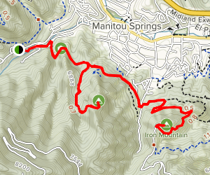 Red and Iron Mountains via Intemann Trail Map