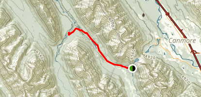Goat Creek Trail to the Spray River Map