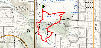 Fanno Creek Greenway Loop Map