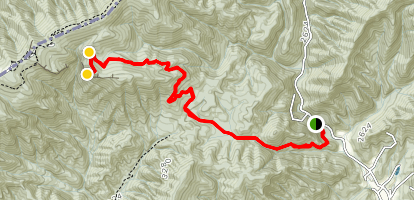 Jerry Miller Trail to Baxter Cliff Map