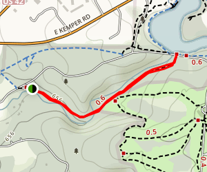 Sharon Woods Gorge Trail Hike Map