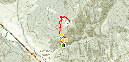 Caves to Point Lookout Map