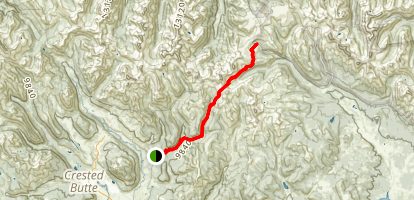 Brush Creek (400) to Taylor Pass Divide Map