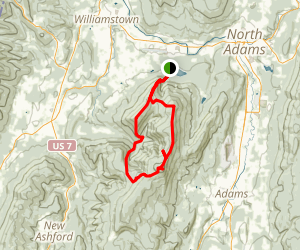 Mount Prospect, Mount Williams, and Mount Greylock Loop via Appalachian Trail Map
