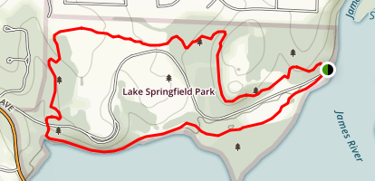 Lake Springfield Park Trail Map