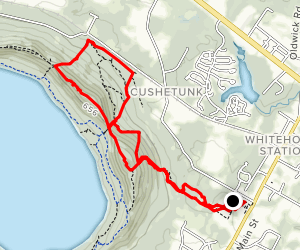 Cushetunk Mountain White and Blue Trail  Map