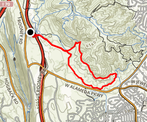 Green Mountain and Rooney Trail Loop via Rooney Road Trailhead Map