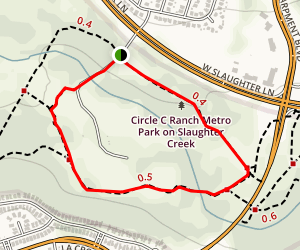 Circle C Slaughter Creek Trail Map