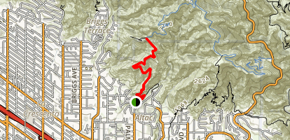 Earl Canyon Mountainway Map