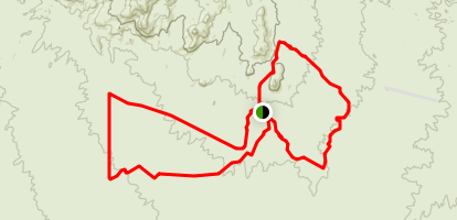Gasline Trail to Highpoint Single Track Trail Loop Map