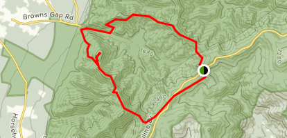 Austin Mountain and Furnace Mountain Loop Map