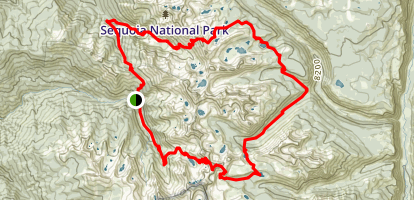 Mineral King Loop Map