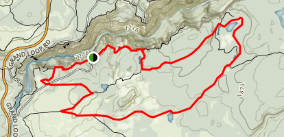South Rim to Ribbon Lake Loop Trail Map