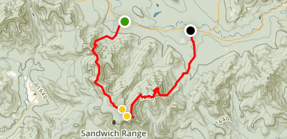 Mount Tripyramid, Mount Whiteface to Passaconaway and Oliverian Brook Trail Map