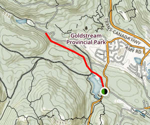Waugh Creek Falls Viewpoint Map